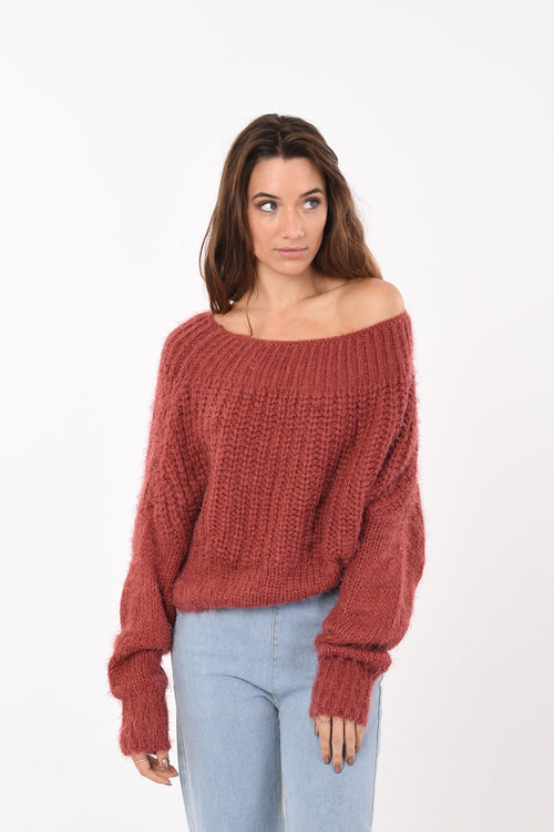 Soft Crop Knit In Red