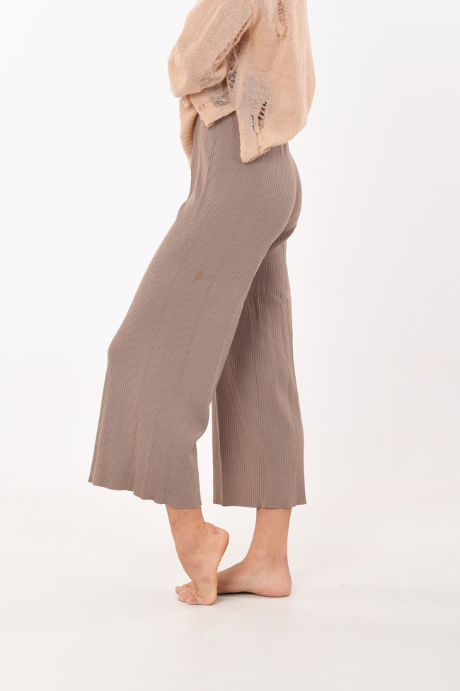 Elastic Pants In Brown