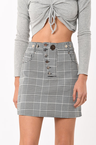 Checks Mini Skirt