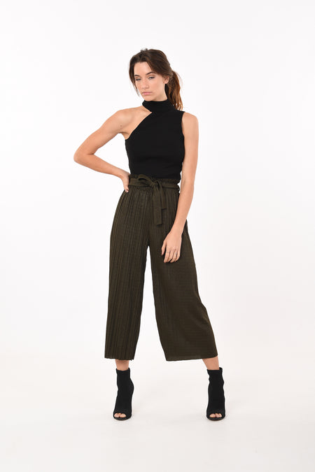 Wide Leg Pants In Black