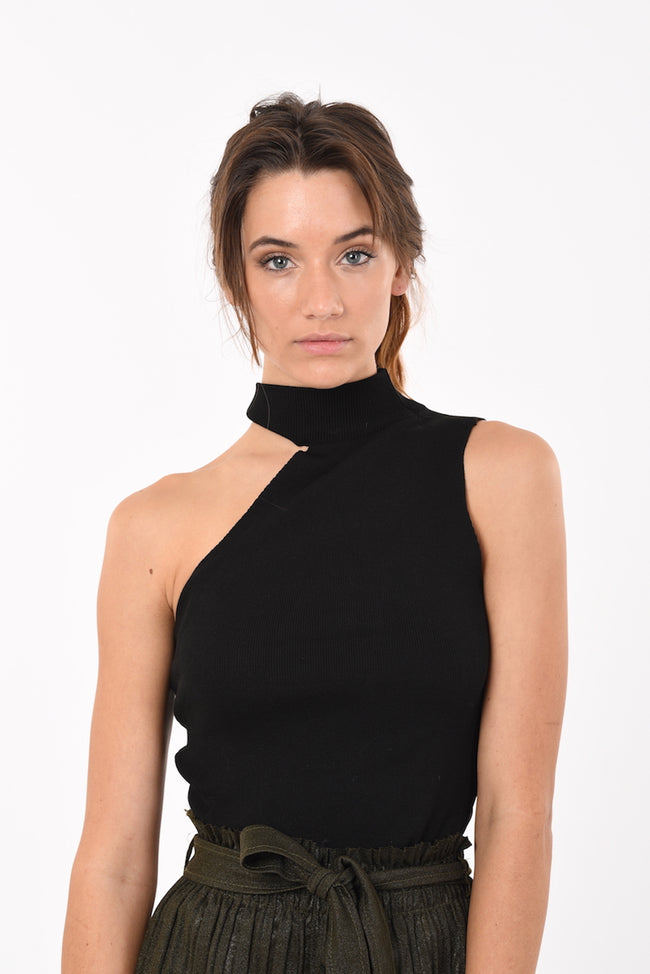 Sleeveless Turtle Neck