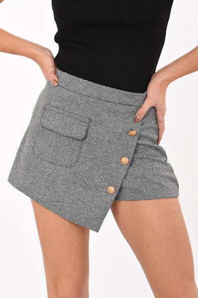 Buffy Slanted Mini Skirt Shorts