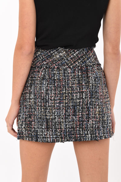 Noira Tweed Pearl Mini Skirt