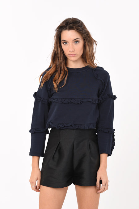 Wilna Off-Shoulder Crop Top