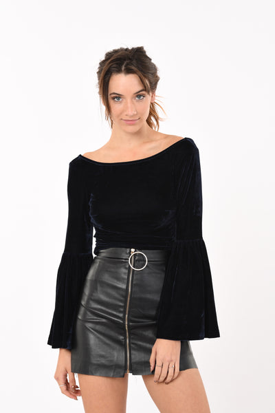 Faux Leather Zip Ring Mini Skirt