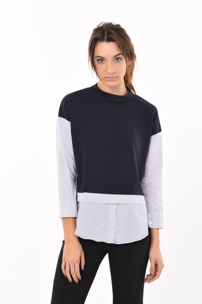 Stripe Shirt Jumper Top