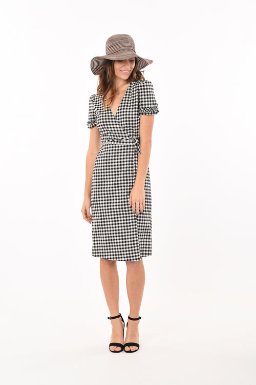 Gingham Wrapped Dress