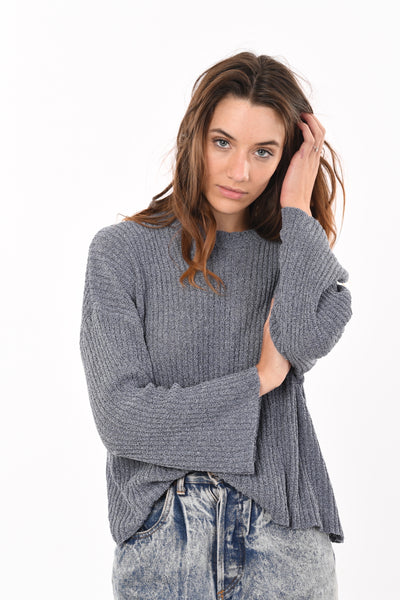 Relax Fit Knit in Bluish Grey