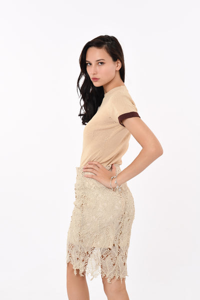 Laced Mid-Length Skirt