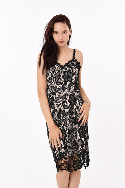 Laced Dress in Black