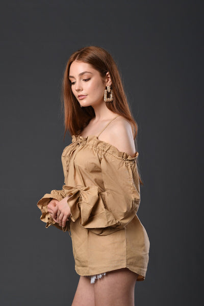 Next Trip Off Shoulder Top
