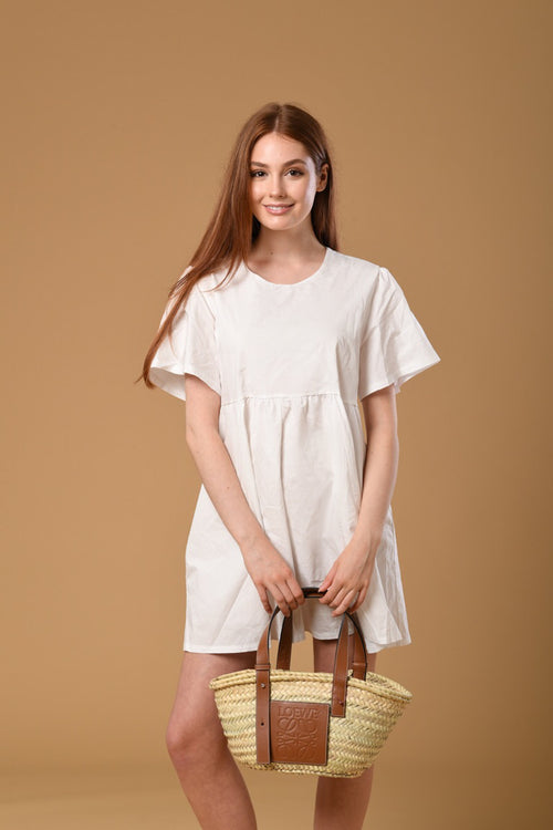 Mini Tulle Linen Dress
