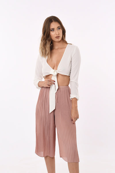 Malle Wide Pants In Blush