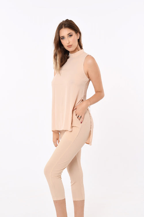 Paula Mid length Pants In Beige