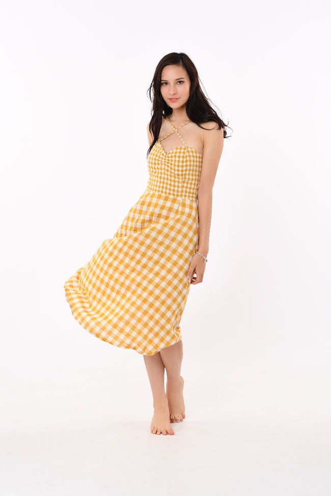 Ruth Checkered Strapped Dress