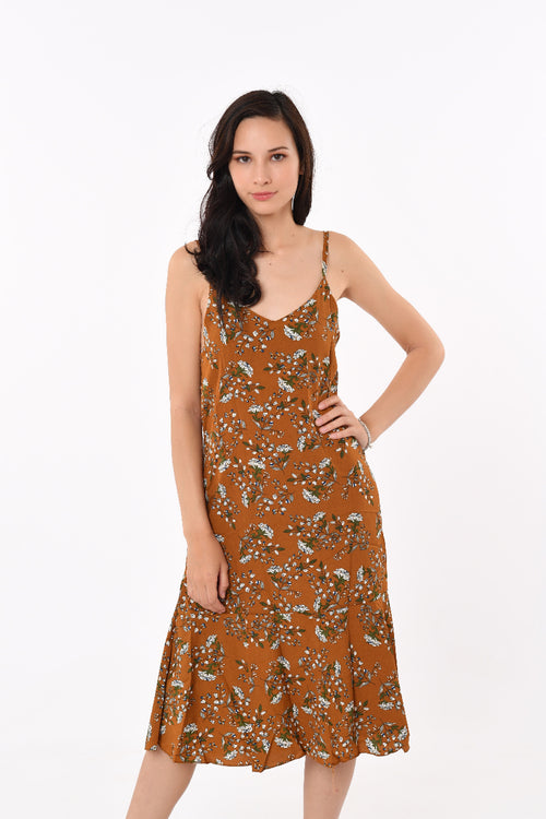 Greza Floral Mid- Length Dress