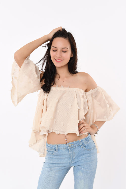 Tatcha Flower Off-Shoulder Top Blush