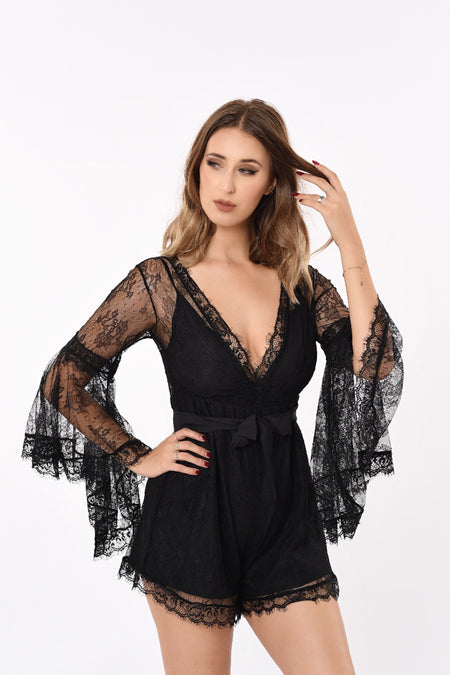 Kayque Back-Ribbon Romper