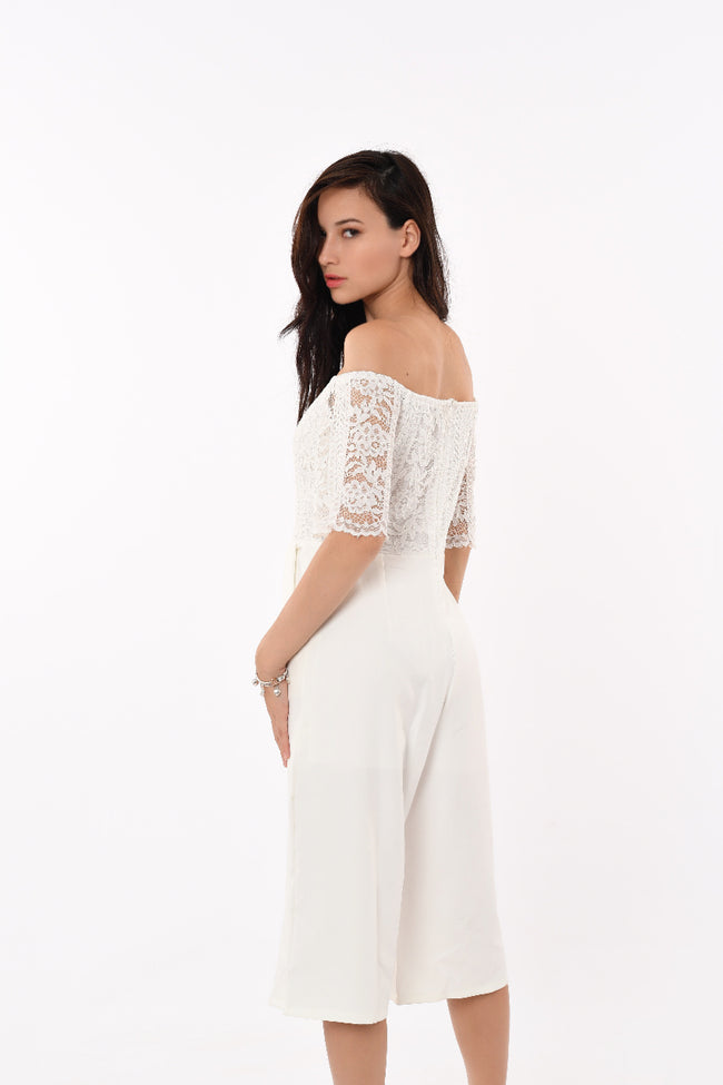 Off Shoulder Laced Jumpsuit