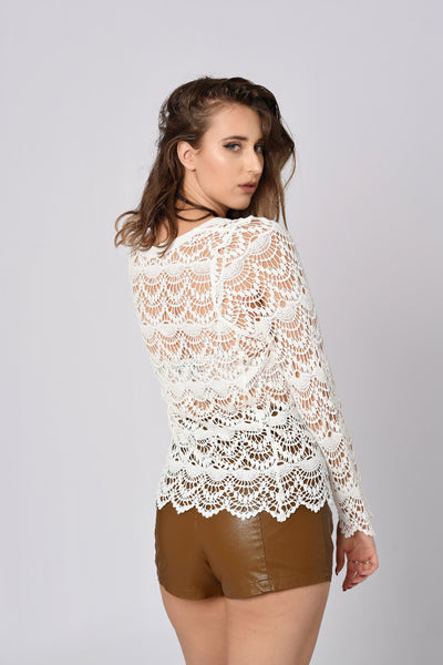 Knitted Laced Up Beach Top
