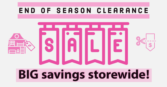 End of season clearance sale save up to 30% off free shipping