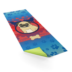 Dog Lover's Yoga Mat (Red) - Blue Buddha Store