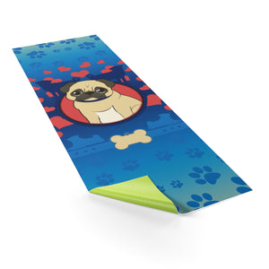 Dog Lover's Yoga Mat (Blue) - Blue Buddha Store