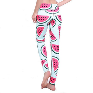 Watermelon Yoga Leggings