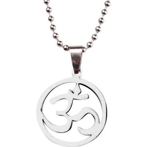 Circle Om Necklace - Blue Buddha Store