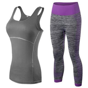 Women's Tank Top And 3/4 Leggings Set - Blue Buddha Store