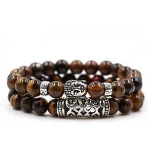 Eternal Buddha Bracelet 2-Piece Set (4 Colors) - Blue Buddha Store