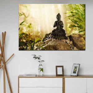 Zen Meditation Wall Art - Blue Buddha Store