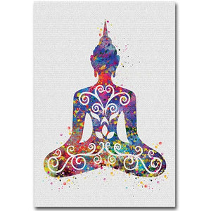 Blue Buddha Collection Canvas Wall Art - Blue Buddha Store
