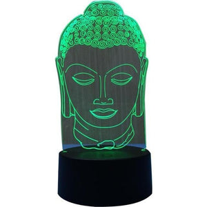 Buddha Head 3D LED Table Lamp - Blue Buddha Store