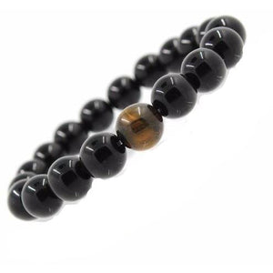 Crystal Rock Buddha Bracelet (Men's) - Blue Buddha Store