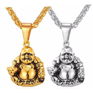 Laughing Buddha Necklace & Pendant - Blue Buddha Store