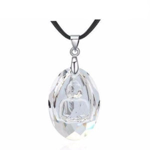 Crystal Buddha Necklace & Pendant - Blue Buddha Store