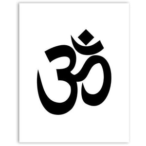 Aum Ohm Om or Inhale/Exhale Canvas Wall Art - Blue Buddha Store