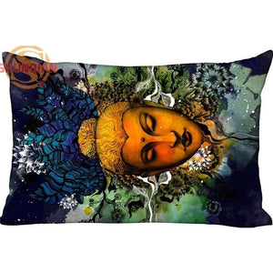 Lord Buddha Rectangle Pillow Cover (Various Styles) - Blue Buddha Store
