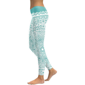 Mandala Yoga Leggings - Blue Buddha Store