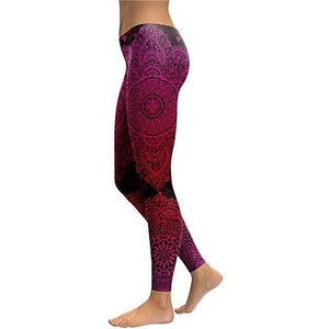 Dark Moon Mandala Yoga Leggings - Blue Buddha Store