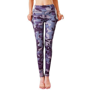 Camouflage Yoga Leggings - Blue Buddha Store