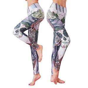 Skull Garden Yoga Leggings