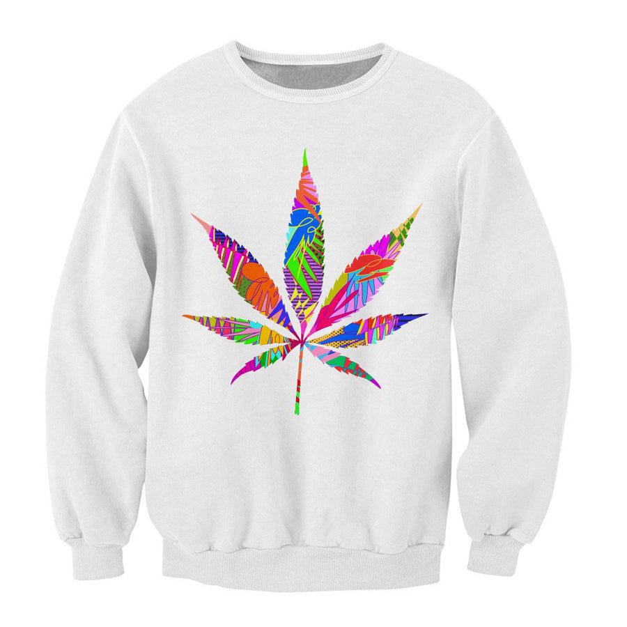 Colourful Leaf Deign - Sweatshirt