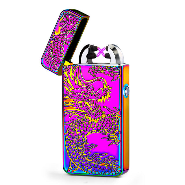 Luxury Rechargeable USB Windproof Lighter