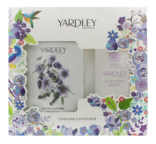 Yardley English Lavender Gift Set 200g Perfumed Talc + 100g Fragranced Soap