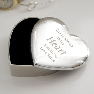Personalised Free Text Heart Trinket Box