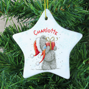 Personalised Me To You Star Christmas Decoration