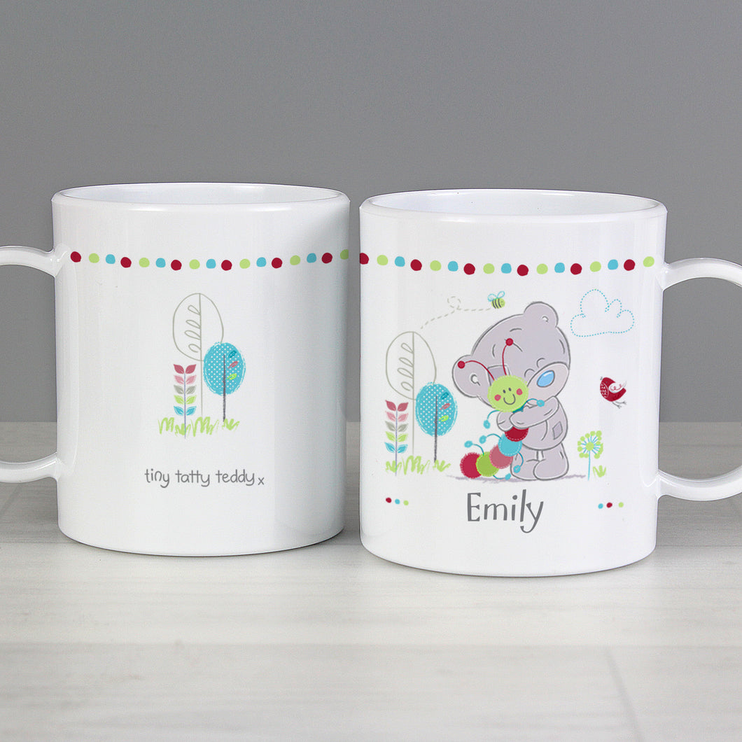 Personalised Tiny Tatty Teddy Cuddle Bug Plastic Mug