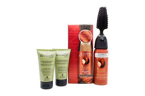 Alterna Stylist Gift Set 90ml 1 Night Highlights in Ravish Red + 40ml Bamboo Shine Conditioner + 40ml Bamboo Shine Shampoo